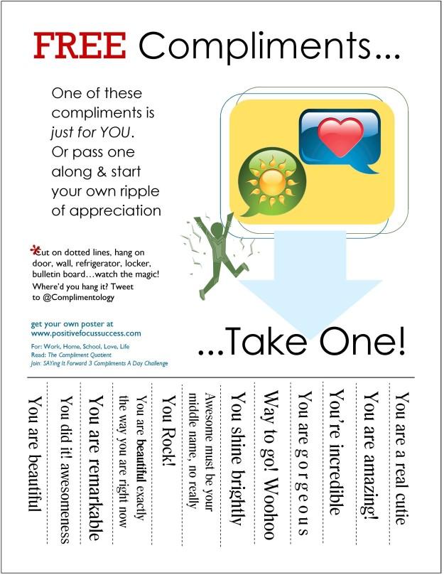 free compliments- miniposter 1-11-14 positivefocussuccess.com